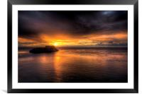 St. Catherines Island, Tenby, Framed Mounted Print