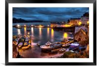 Tenby Harbour High Tide, Framed Mounted Print