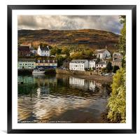 Beaumont Crescent reflected, Framed Mounted Print