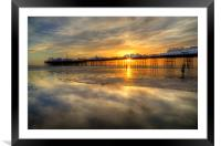 Watching the Sunset, Framed Mounted Print