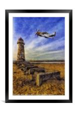 North American P-51 Mustang, Framed Mounted Print