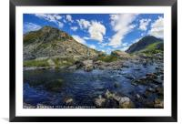 PePen yr Ole Wen and Tryfan, Framed Mounted Print
