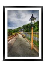 Berwyn Station Waiting For The Train, Framed Mounted Print