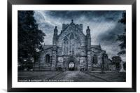St Asaph Cathedral, Framed Mounted Print