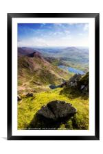 Snowdon Pyg and Miners Track, Framed Mounted Print