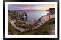 Path to Durdle Door, Framed Mounted Print