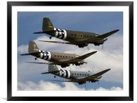 D-Day Trio, Framed Mounted Print