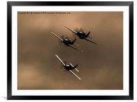 P-51 Mustang Trio, Framed Mounted Print