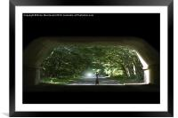 Light at the end of the tunnel, Framed Mounted Print