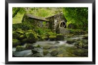 The old water mill, Framed Mounted Print