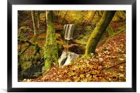 Dalcairney Falls in Autumn, Framed Mounted Print