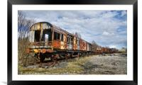 The old trains , Framed Mounted Print