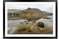 Eilean Donan Castle & Reflection , Framed Mounted Print