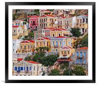Symi island Greece II, Framed Mounted Print