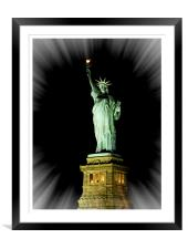Statue of Liberty NYC, Framed Mounted Print