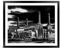 Contemporary Landscapes Battersea Power Station, Framed Mounted Print