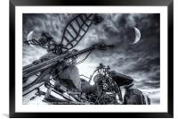 Riding Tonight BW, Framed Mounted Print