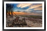 Bembridge Beach Sunset, Framed Mounted Print