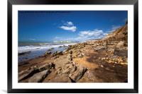 Hanover Point  Compton Bay Isle Of Wight, Framed Mounted Print
