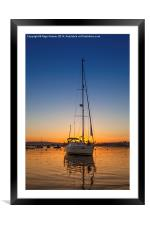 Southerly Sunset, Framed Mounted Print