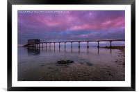 Dawn At The Lifeboat, Framed Mounted Print