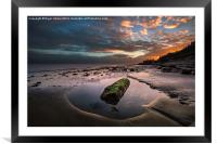 Rock Pool Sunset, Framed Mounted Print