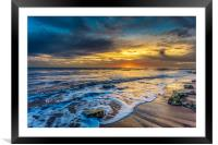 Compton Bay Sunset Isle Of Wight, Framed Mounted Print