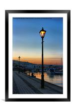 Dusk on the Marina, Framed Mounted Print