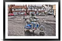 A Proud Mod, Framed Mounted Print