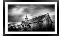 The Old Church Llandrindod Wells, Framed Mounted Print