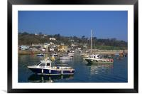 Lyme Regis Harbour from The Cobb, Framed Mounted Print