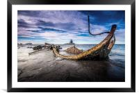 The Wreck at Saltwick Bay, Framed Mounted Print