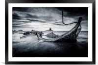 The Wreck at Saltwick, Framed Mounted Print