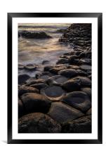 The Giants Causeway, Framed Mounted Print