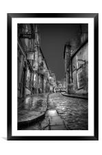 Cobblestones Windows & Doors on Steep Hill, Framed Mounted Print
