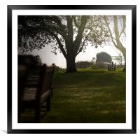 Paradise Lost - Blissful Seat under Tree, Framed Mounted Print
