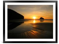 Cornwall: Patterns in the Sand, Framed Mounted Print