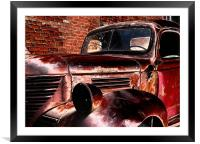 Red Truck, Framed Mounted Print