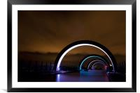 The Falkirk Wheel arches, Framed Mounted Print