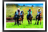 A Day at the Races, Framed Mounted Print