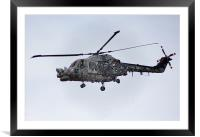 The Black Cat Helicopter, Framed Mounted Print