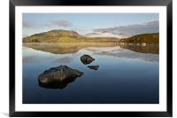 Loch of Rocks, Framed Mounted Print