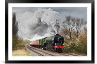 Tornado storming through the Nene Valley, Framed Mounted Print