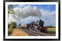 """""""Morayshire"""" with an early morning passenger train, Framed Mounted Print"""