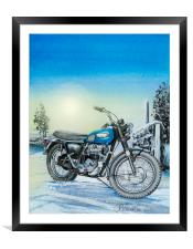 If you go when the snowflakes storm, Framed Mounted Print