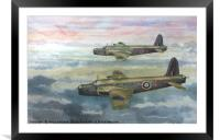 Vickers Wellingtons, Framed Mounted Print