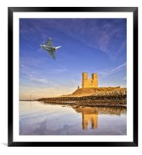 Reculver Tower Eurofighter Typhoon, Framed Mounted Print