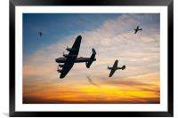 Battle of Britain Sunset, Framed Mounted Print