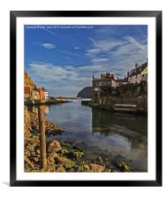 Harbour Entrance Staithes Portrait, Framed Mounted Print