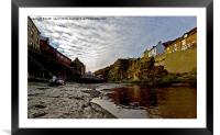 Roxby Beck Staithes, Framed Mounted Print